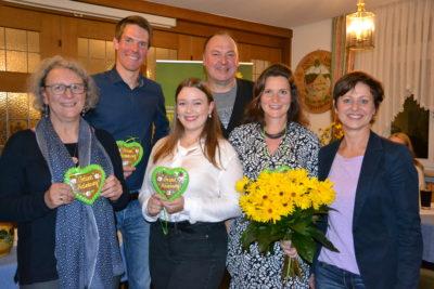 Der neu gewählte Vorstand des Grünen Ortsverbandes Mainburg. Als Gäste mit dabei: Erhard Grundl und Sigi Hagl.