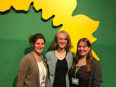 Olivia Kreyling, Eva Lettenbauer, Maria Haimerl auf Parteitag