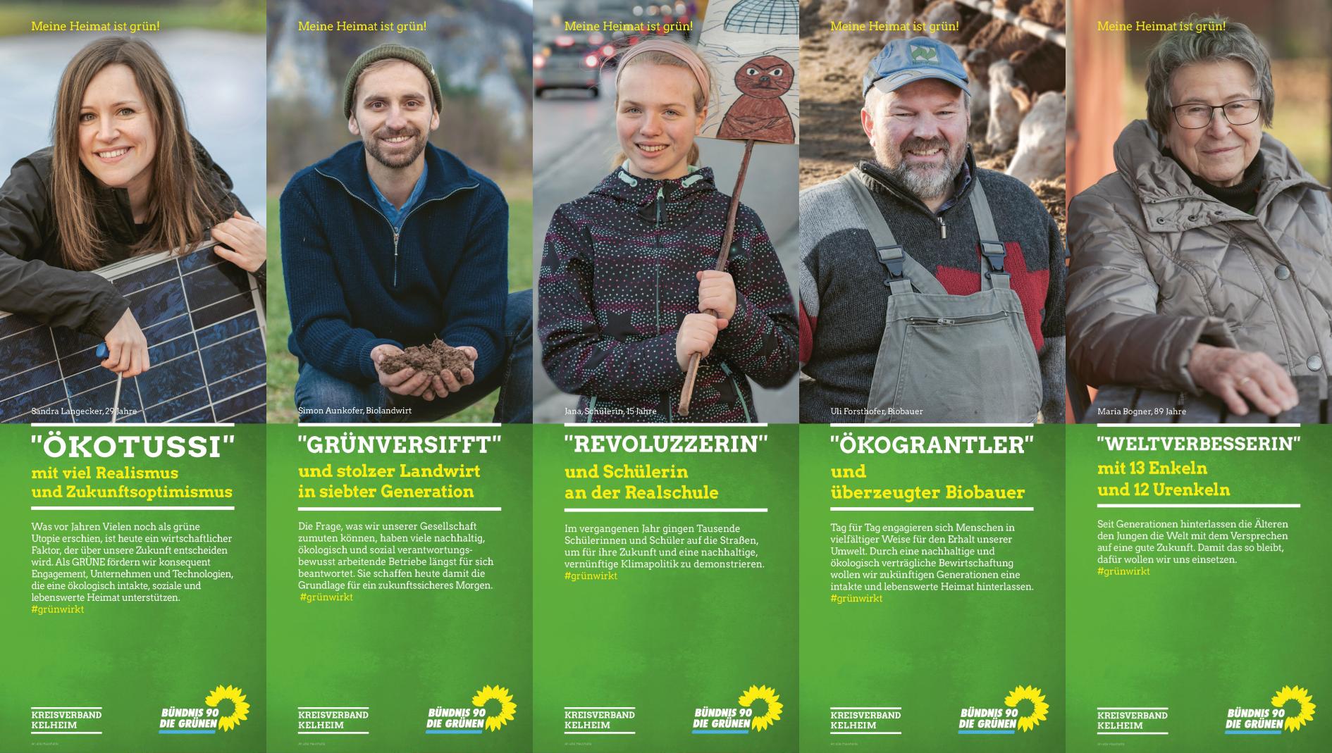 Flyer-Kampagne der GRÜNEN zur Kreistagswahl Kelheim