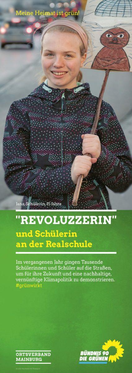 Flyer-Cover der GRÜNEN - Stadtratswahl Mainburg